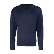 Men's Long Sleeve V-Neck Jumper