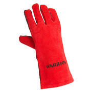 Supa Red Leather Welding Gauntlets