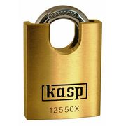 Kasp Brass Padlock Closed Shackle - 125 Series