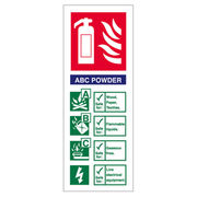 Powder Extinguisher ID Sign