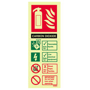 CO2 Extinguisher ID Sign
