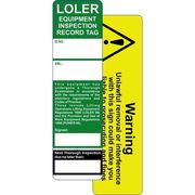 LOLER & MEWP Safety Tagging System